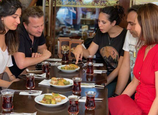 Taste mouth-watering baklavas during Istanbul night tour