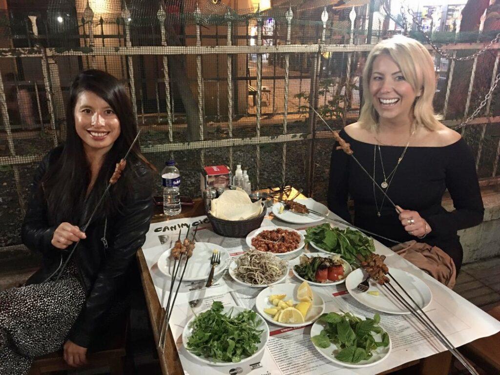 Tasting delicious cop sis kebab during Istanbul at Night tour