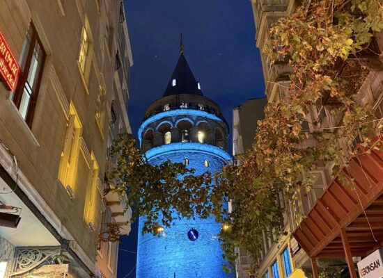 See picturesque Galata Tower during Istanbul night tour