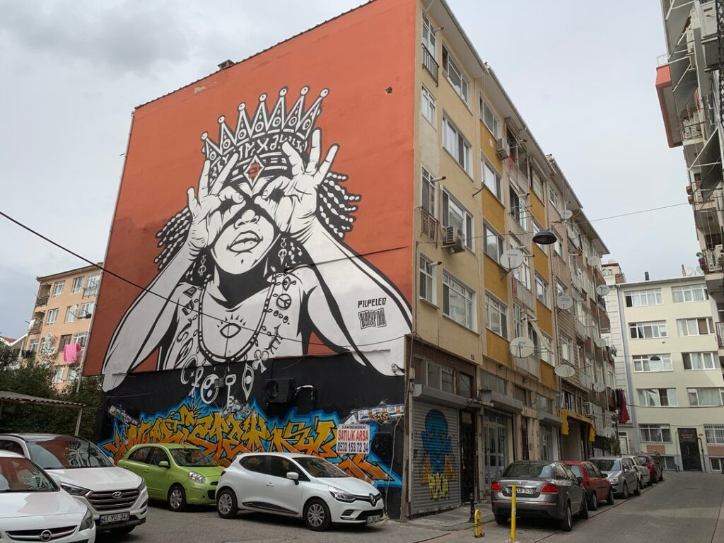 one of the murals you will see during istanbul street art tour