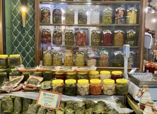 Try delicious pickle juice during Istanbul local history and food walk at night tour